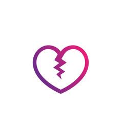 broken heart heartbreak vector image