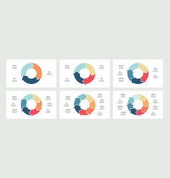 business infographics circles with 3 4 5 6 7 vector image