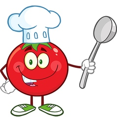 Chef Tomato Cartoon vector image