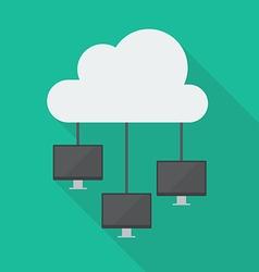 Cloud Computing Diagram Network vector