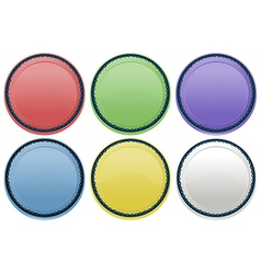 Colourful plates vector