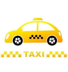 cute taxi car and stripe vector image