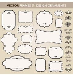 Design ornaments set vector