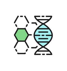 dna structure genetics molecule analysis flat vector image