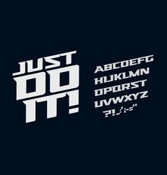 drive alphabet race modern serif font vector image