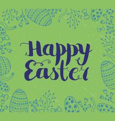 easter card poster banner brushpen vector image