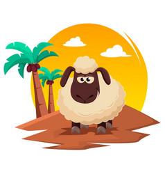 Eid al-adha mubarak traditional muslim holiday vector