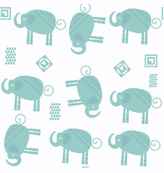 elephants abstract seamless nature pattern in it vector image
