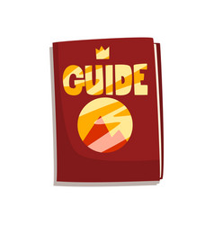 Fantasy fairytale game board guide book vector