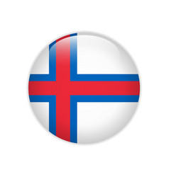 Faroe islands flag on button vector