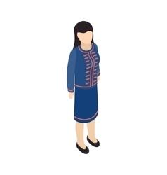 Female singaporean icon isometric 3d style vector image