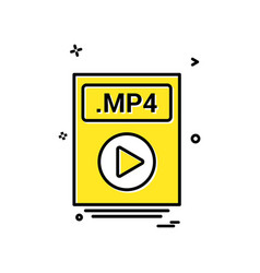 file files mp4 icon design vector image