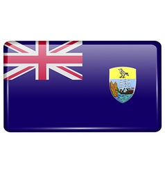 Flags Saint Helena in the form of a magnet on vector image