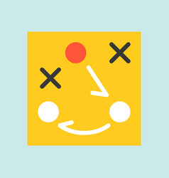 Flat icon soccer related strategy planing or vector