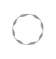 floral decorative circle icon design template vector image
