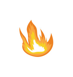 forest camping fire flames or blazes sign cartoon vector image