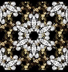 golden pattern seamless golden textured curls in vector image
