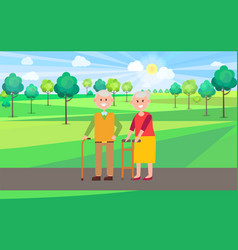granny and granddad poster vector image