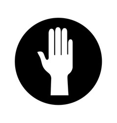 Hand human silhouette icon vector