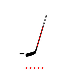 hockey sticks and puck it is icon vector image