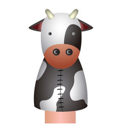 Isolated cow puppet vector