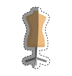 Isolated mannequin body vector