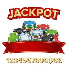 jackpot winner background gambling poker vector image