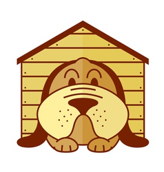 kennel dog vector image
