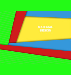 material design backgroundbright colors vector image
