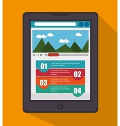 mobile infographic design vector image