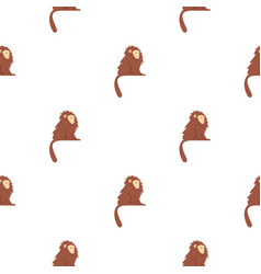 Monkey with long brown hair i pattern seamless vector