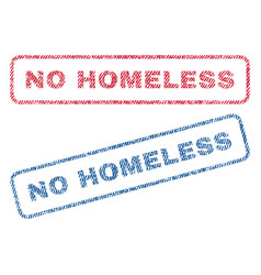 No homeless textile stamps vector