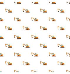 Orange digger pattern vector