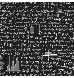 Physical seamless pattern on a blackboard vector image