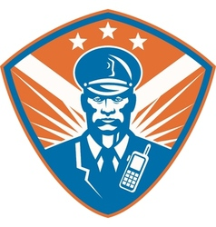 Policeman security guard police officer crest vector