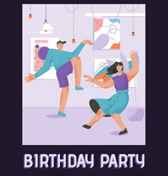 poster birthday party concept vector image