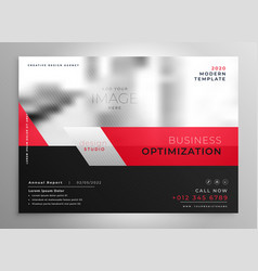 Professional red business brochure presentation vector