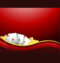 red casino gambling background elements vector image