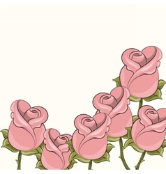 Roses background for cards vector image