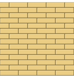 Seamless Pattern of Yellow Bricks Wall vector image