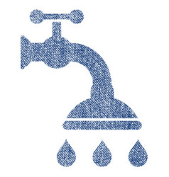 Shower tap fabric textured icon vector