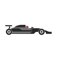 silhouette a racing car logo formula 1 vector image