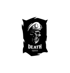 skull in a military beret vector image