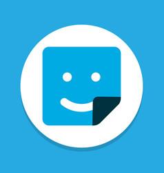 smile icon colored symbol premium quality vector image