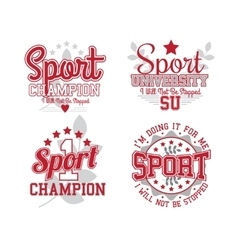 Sport Badges Collection vector image