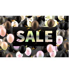 stock golden sale discounts vector image