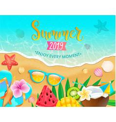 Summer 2019 top view banner vector