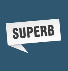 Superb speech bubble superb ribbon sign superb vector