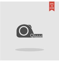 Tape measure icon Roulette construction simbol vector