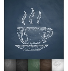 tea icon Hand drawn vector image